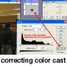 correcting color cast